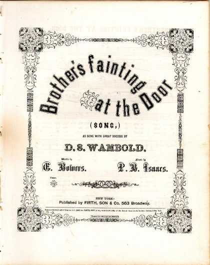 Sheet Music - Brother's fainting at the door