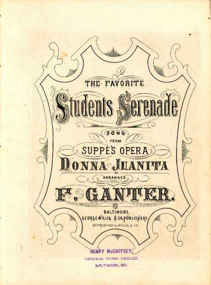 Sheet Music - Favorite students serenade; Donna Juanita