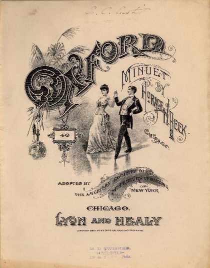 Sheet Music - Oxford minuet