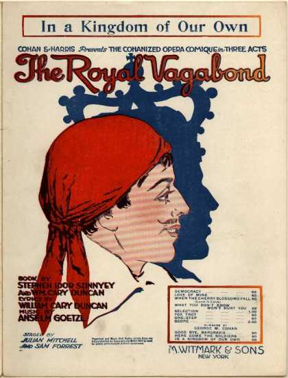 Sheet Music - In a kingdom of own own; Royal vagabond