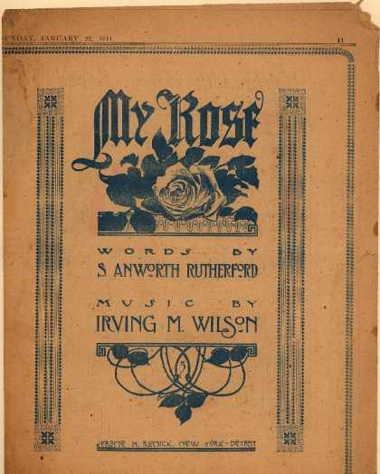 Sheet Music - My rose