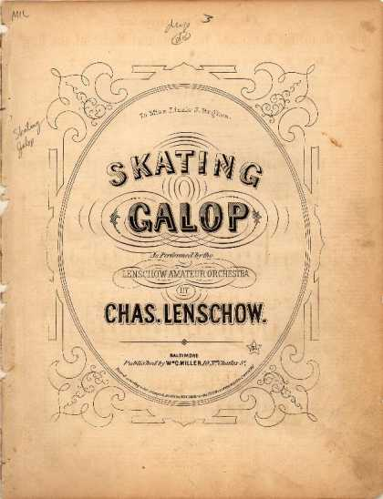 Sheet Music - Skating galop