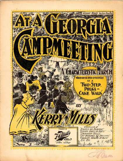 Sheet Music - At a Georgia campmeeting