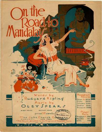 Sheet Music - On the road to Mandalay