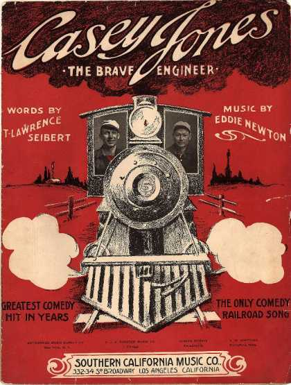 Sheet Music - Casey Jones, the brave engineer