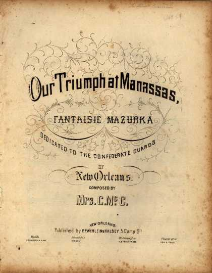Sheet Music - Our triumph at Manassas; Fantaisir mazurka
