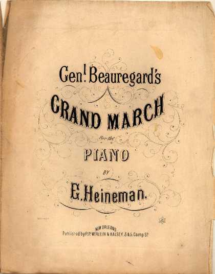 Sheet Music - Genl. Beauregard's grand march