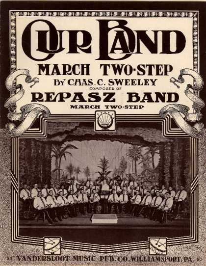 Sheet Music - Our band; March two-step