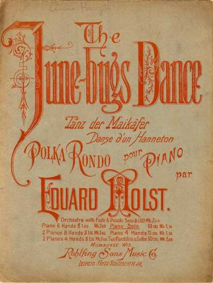 Sheet Music - June-bugs dance; Tanz der Maikafer; Danse d'un Hanneton