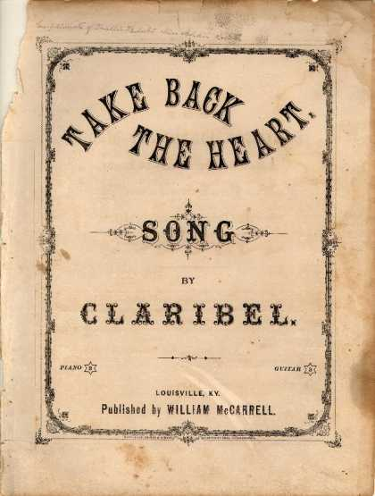 Sheet Music - Take back the heart