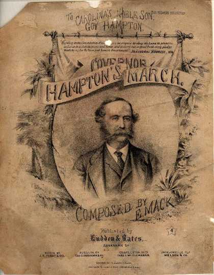 Sheet Music - Governor Hampton's march