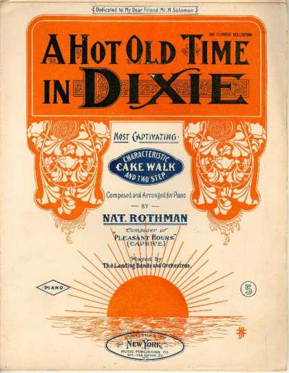 Sheet Music - A hot old time in Dixie