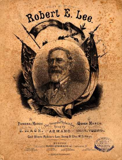 Sheet Music - Gen. Lee's quick march; Robert E. Lee quick march