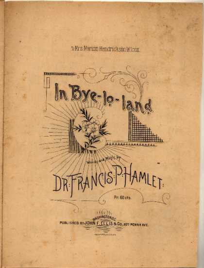 Sheet Music - In bye-lo-land