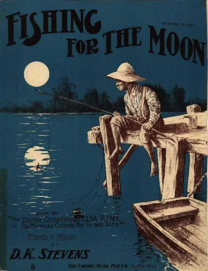 Sheet Music - Fishing for the moon; Green bird
