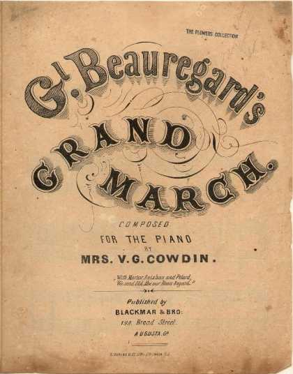 Sheet Music - Gl. Beauregard's grand march