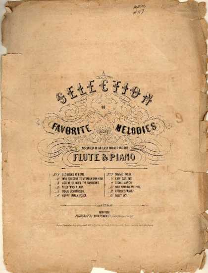 Sheet Music - Old folks at home