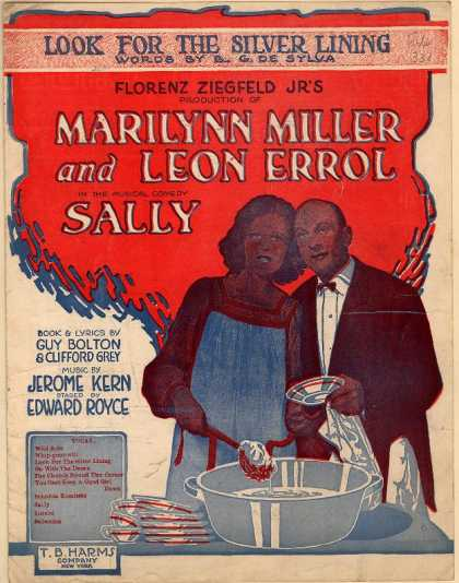 Sheet Music - Look for the silver lining; Sally