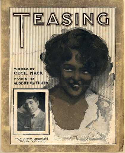 Sheet Music - Teasing; I was only, only teasing you