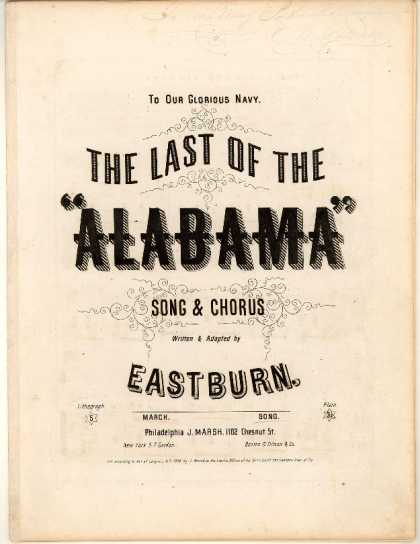 Sheet Music - The last of the Alabama