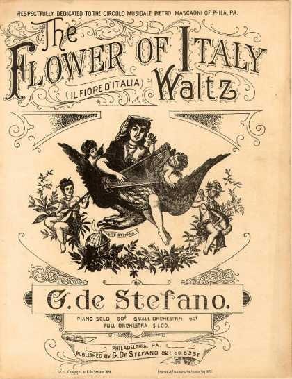 Sheet Music - The flower of Italy waltz; Il fiore d'italia