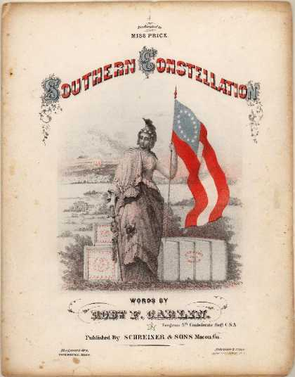 Sheet Music - Southern constellation; Bonnie blue flag