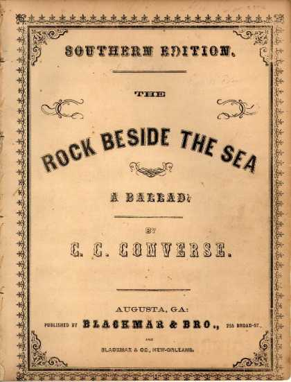 Sheet Music - Rock beside the sea
