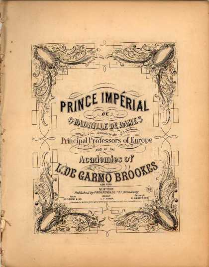 Sheet Music - Prince Imperial, or, Quadrille de dames