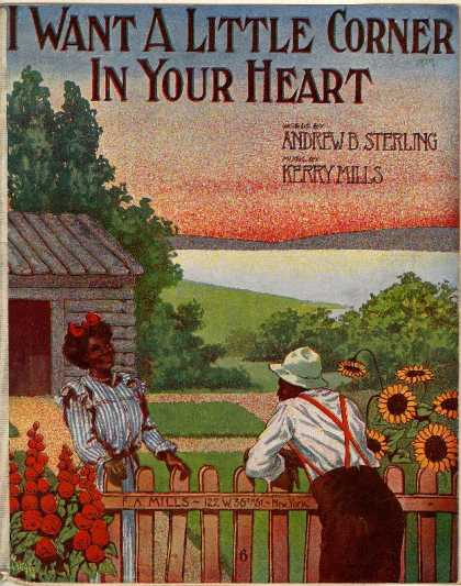 Sheet Music - I want a little corner in your heart