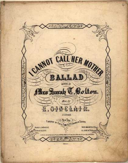 Sheet Music - I cannot call her Mother