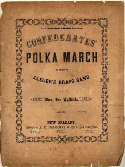 Sheet Music - Confederates' polka march