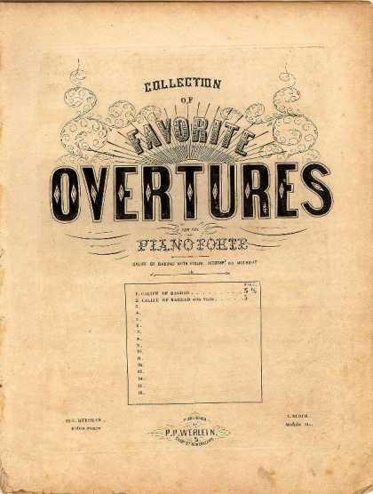Sheet Music - Calife of Bagdad; Overture to Calife de Bagdad