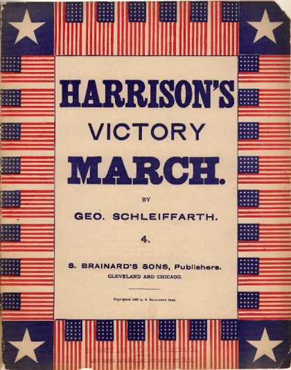 Sheet Music - Harrison's victory march