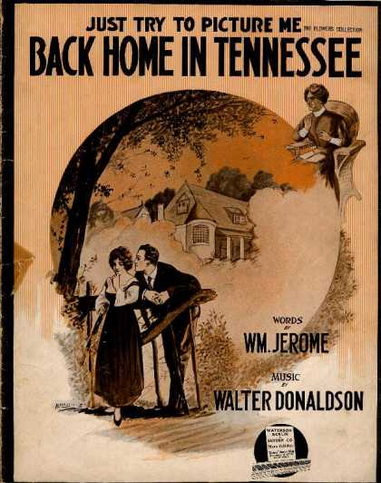 Sheet Music - Just try to picture me down home in Tennessee
