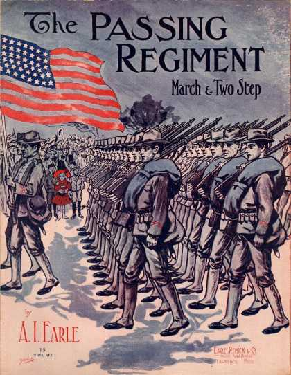 Sheet Music - The passing regiment