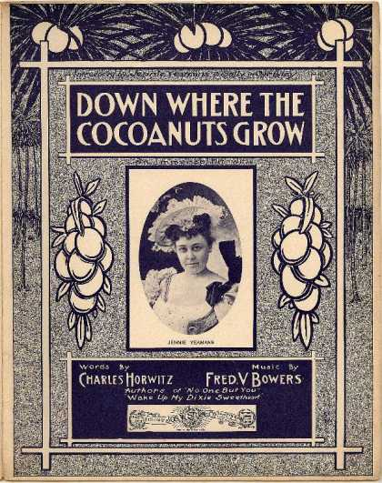 Sheet Music - Down where the cocoanuts grow; Sally in our alley