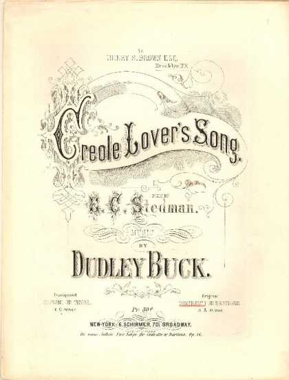 Sheet Music - Creole lover's song