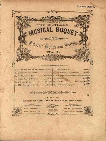 Sheet Music - Let me kiss him for his mother