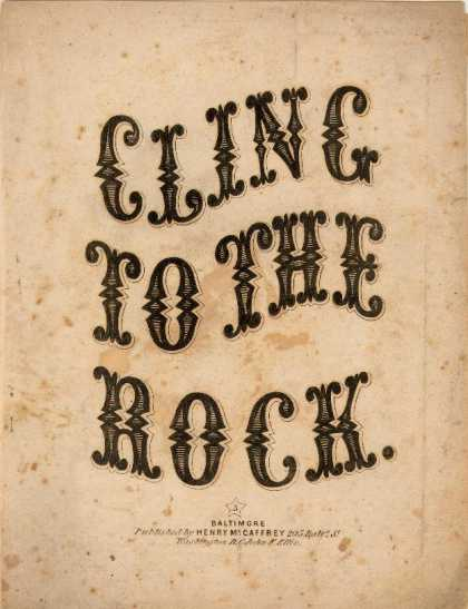 Sheet Music - Cling to the rock