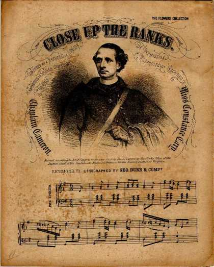 Sheet Music - Close up the ranks