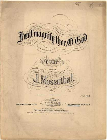 Sheet Music - I will magnify thee, O God