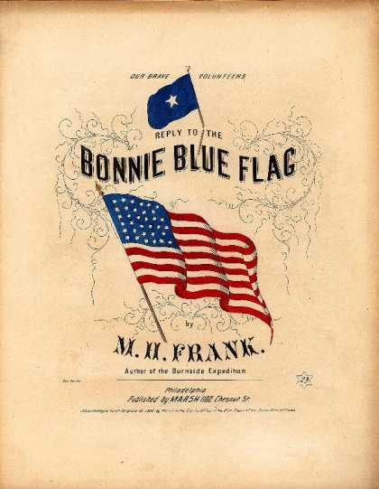 Sheet Music - Reply to the Bonnie blue flag; Answer to the Bonnie blue flag