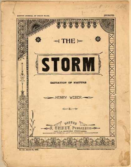 Sheet Music - The storm; Imitation of nature