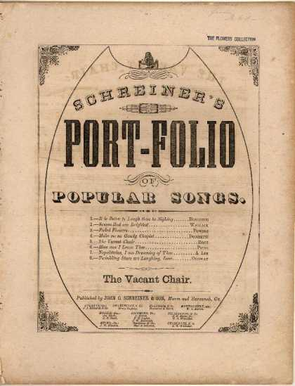 Sheet Music - The vacant chair; We shall meet, but we shall miss him
