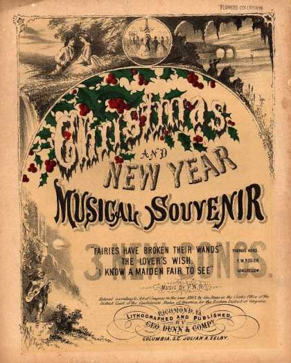 Sheet Music - Christmas and new year musical souvenir; Fairies have broken their wands; The lo