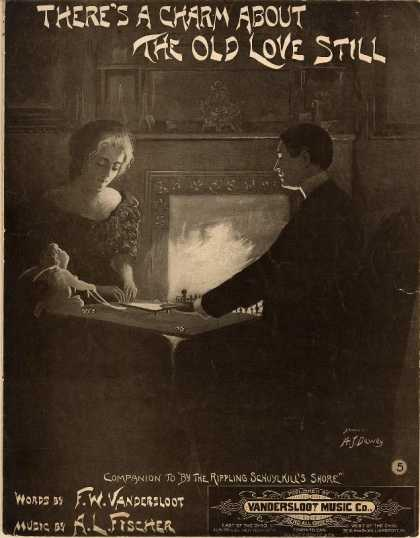 Sheet Music - There's a charm about the old love still