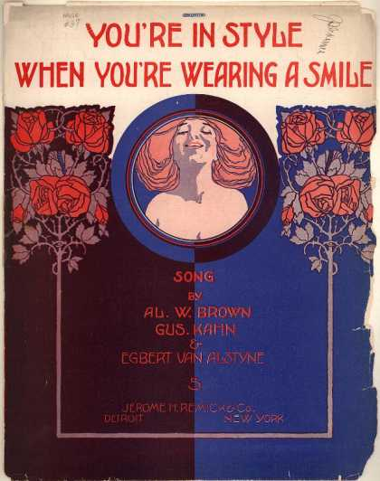 Sheet Music - You're in style when you're wearing a smile