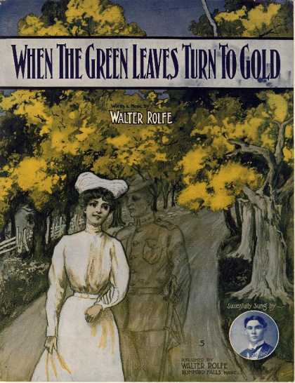 Sheet Music - When the green leaves turn to gold