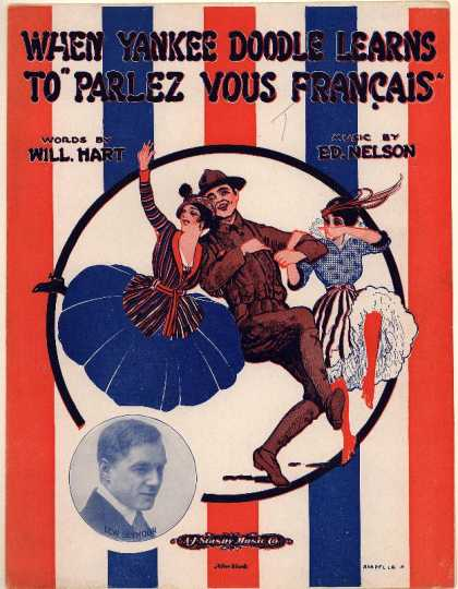 "Sheet Music - When Yankee Doodle learns to ""parlez vous francais"""