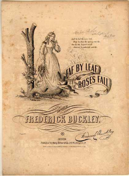 Sheet Music - Leaf by leaf the roses fall